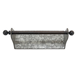 Galvanized Wall Mounted Paper Towel Holder