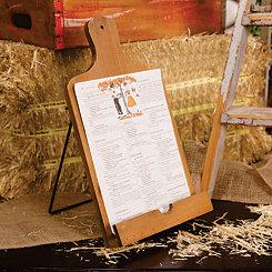 Wood Block Cookbook Holder