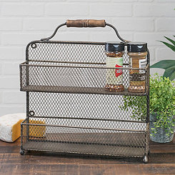 Metal Wall-Mounted Spice Rack