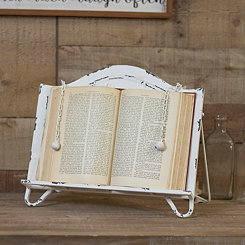 White Metal Cookbook Holder