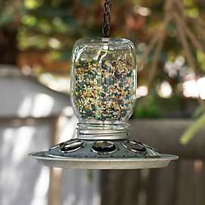 Hanging Jar Bird Feeder