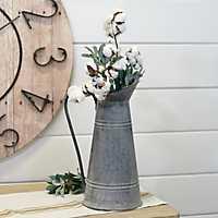 Galvanized Metal Farmhouse Pitcher Vase