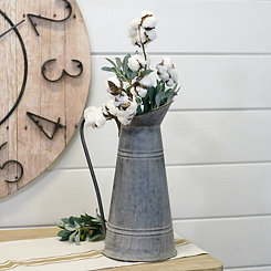 Galvanized Metal Farmhouse Pitcher Vase