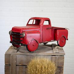 Vintage Red Metal Truck