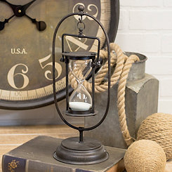 Metal Old World Style Hourglass