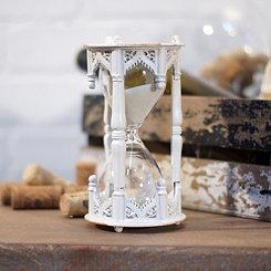 White Old World Hourglass