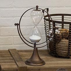 Bronze Metal Sphere Hourglass