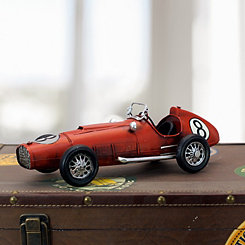 Red Vintage Metal Racecar