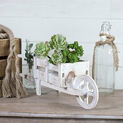 Whitewashed Wheelbarrow Planter