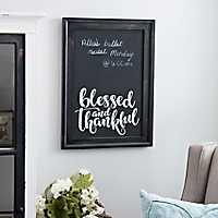 Blessed & Thankful Framed Chalkboard