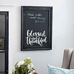 Blessed & Thankful Framed Chalkboard