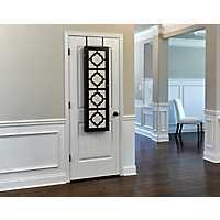 Quatrefoil Espresso Wall or Door Mirror Armoire