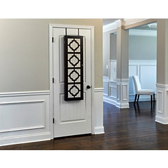 Quatrefoil Espresso Wall or Door Mirror Armoire