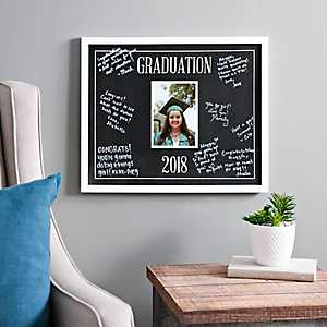 Graduation Signature Picture Frame with Pen, 5x7