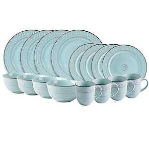 Turquoise Cosenza 16-pc. Dinnerware Set