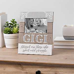 Gigi Blessed Are Those Plank Picture Frame, 4x6