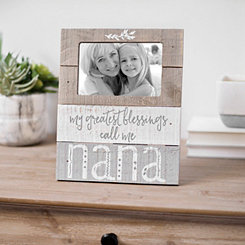 Nana Greatest Blessings Plank Picture Frame, 4x6
