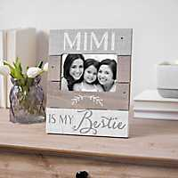 Mimi is My Bestie Plank Picture Frame, 4x6