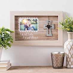Not Lucky Blessed Cross Picture Frame, 4x6