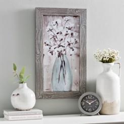 Cotton Bolls in Vase Framed Art Print