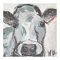 Abstract Gray Cow Canvas Art Print