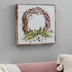 Willow Wreath with Border Canvas Art Print