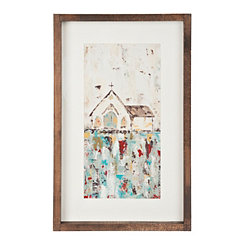 Church Panel Framed Canvas Art Print