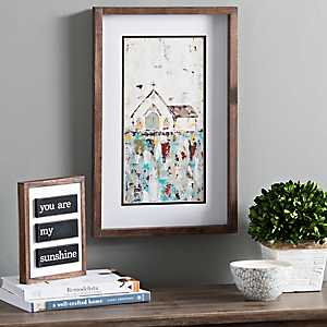 Church Panel Framed Canvas Art Print