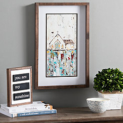 Church Panel Framed Art Print