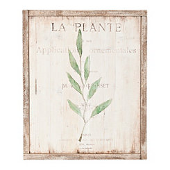 Botanical I Wood Panel Framed Art Print