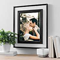 Black and White Wood Picture Frame, 11x14