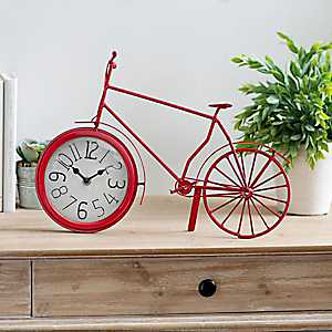 Red Bike Tabletop Clock