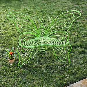 Green Metal Butterfly Chair