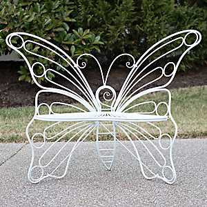 White Metal Butterfly Chair