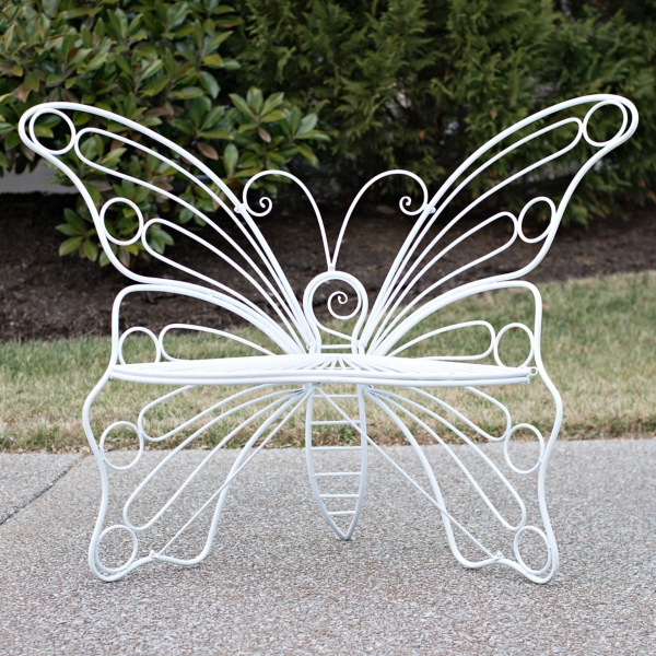 White Metal Butterfly Chair ...