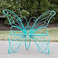 Turquoise Metal Butterfly Chair