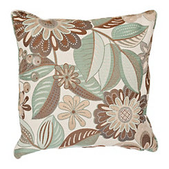 Bayberry Natural Floral Pillow