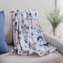 Summer Mist Floral Plush Throw