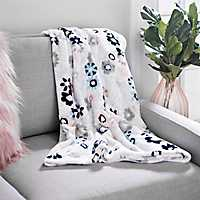 Floral Waterfall Plush Throw