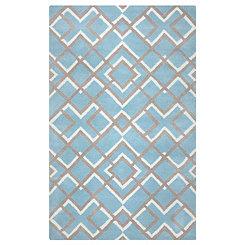 Blue Diamond Trellis Area Rug, 8x10