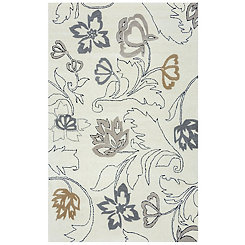 Neutral Floral Area Rug, 8x10