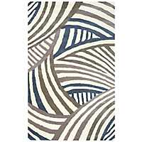 Contemporary Stripe Area Rug, 5x8
