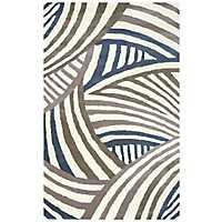 Contemporary Stripe Area Rug, 5x8