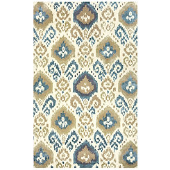 Tan Geometric Ikat Area Rug, 5x8