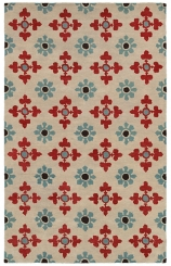 Opus Floral Tile Area Rug, 5x8