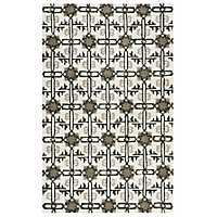Brown and Gray Hand-Tufted Wool Area Rug, 8x10
