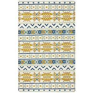 Gold Southwest Hand-Tufted Wool Area Rug, 8x10