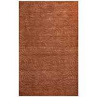 Solid Rust Hand-Loomed Wool Area Rug, 8x10