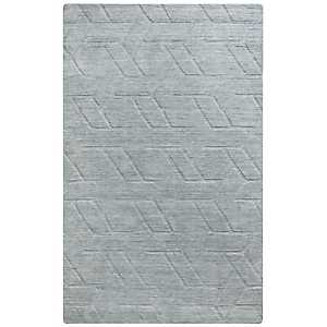 Solid Gray Hand-Loomed Wool Area Rug, 8x10