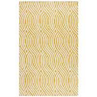 Yellow Trellis Hand-Tufted Wool Area Rug, 8x10